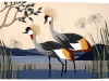 Twin Cranes - wall hanging